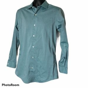 Marc Anthony slim fit dress shirt blue-green